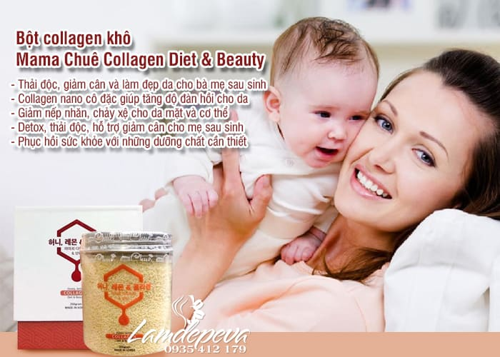 Bột collagen khô Mama Chuê Collagen Diet & Beauty Hàn Quốc 3