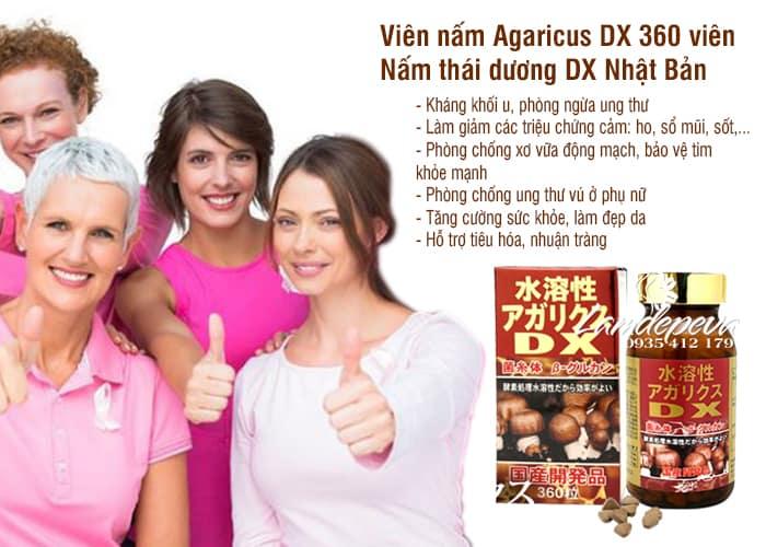Viên nấm Agaricus DX 360 viên - Nấm thái dương DX Nhật Bản 3