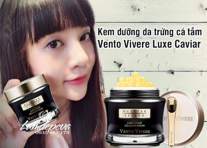 Kem dưỡng da trứng cá tầm Vento Vivere Luxe Caviar Thụy Sĩ 2