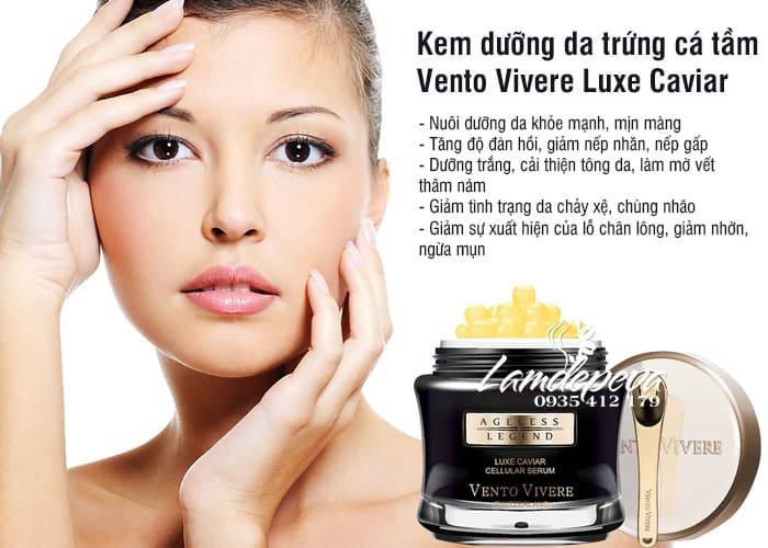 Kem dưỡng da trứng cá tầm Vento Vivere Luxe Caviar Thụy Sĩ 4