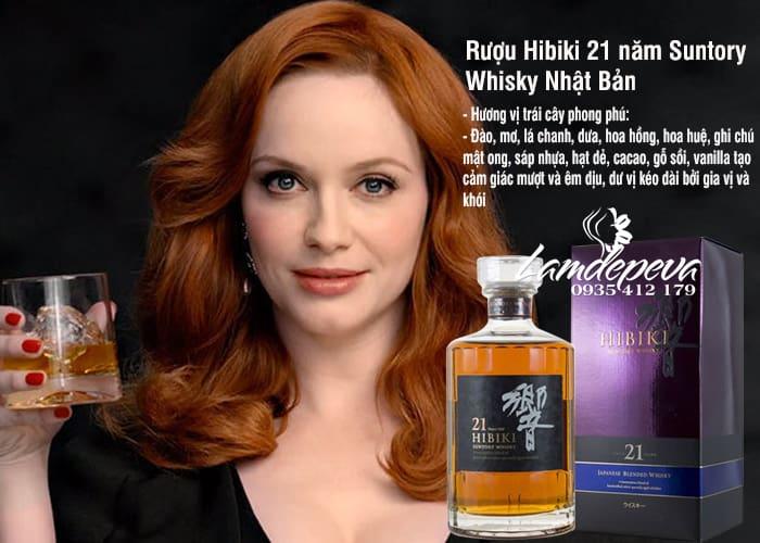 Rượu Hibiki 21 năm Suntory Whisky Nhật Bản chai 700ml 4