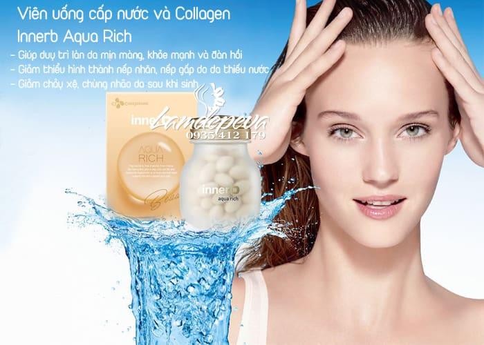 Viên uống cấp nước và Collagen Innerb Aqua Rich 56 viên 2