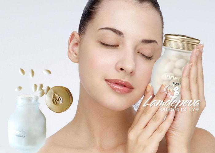 Viên uống cấp nước và Collagen Innerb Aqua Rich 56 viên 1