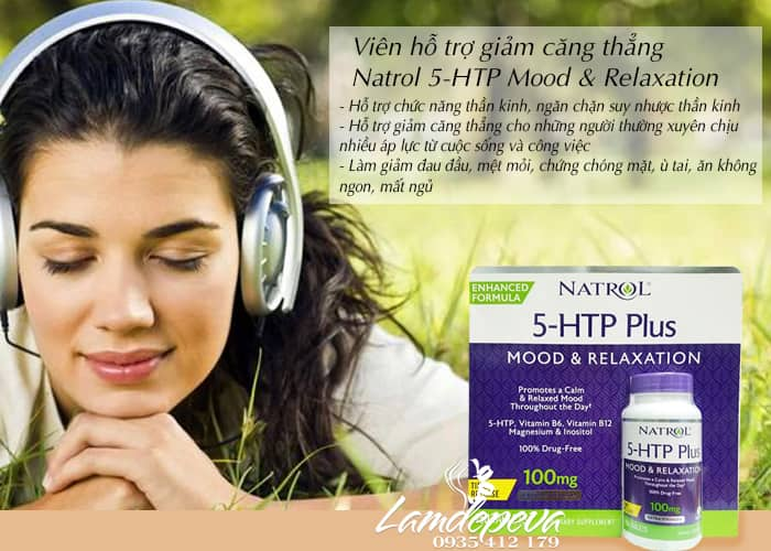 Viên uống giảm căng thẳng Natrol 5-HTP Plus hộp 150 viên 2