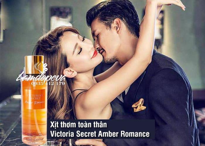 Xịt thơm toàn thân Victoria Secret Amber Romance mẫu mới 4