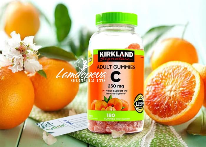Kẹo dẻo Vitamin C Kirkland Adult Gummies C 250mg Mỹ 1