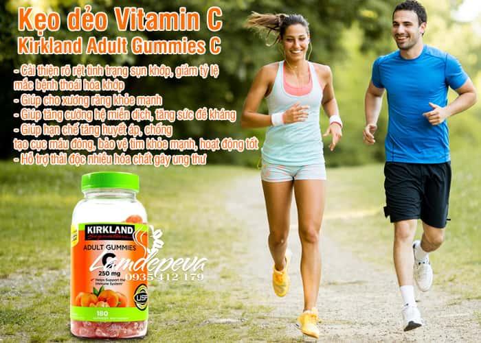 Kẹo dẻo Vitamin C Kirkland Adult Gummies C 250mg Mỹ 2