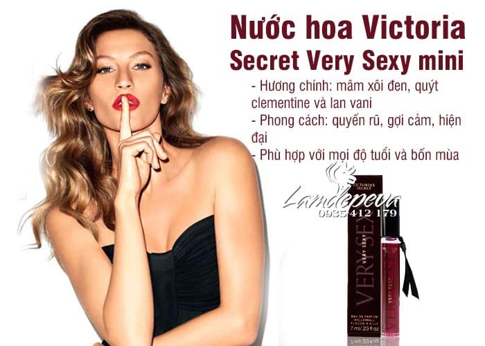 Nước hoa Victoria Secret Very Sexy mini 7ml của Mỹ 2