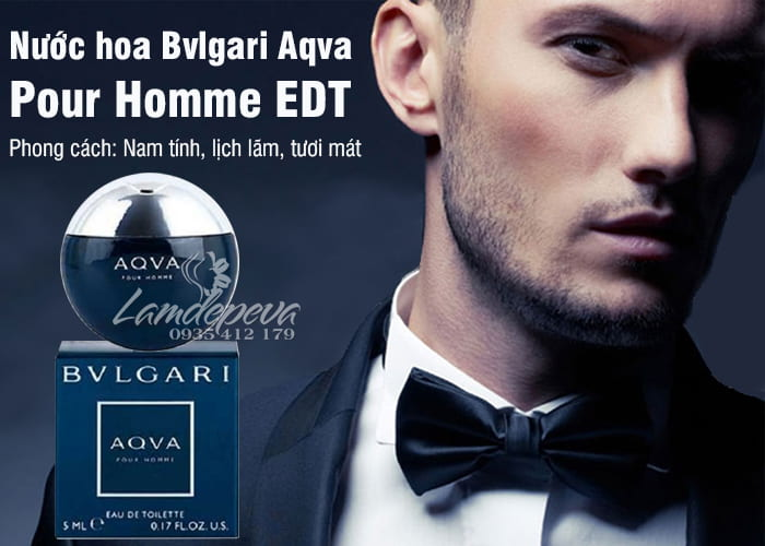 Nước hoa Bvlgari Aqva Pour Homme EDT 5ml - Chai mini 1