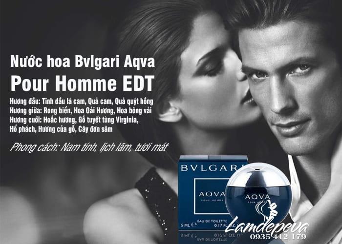 Nước hoa Bvlgari Aqva Pour Homme EDT 5ml - Chai mini 2