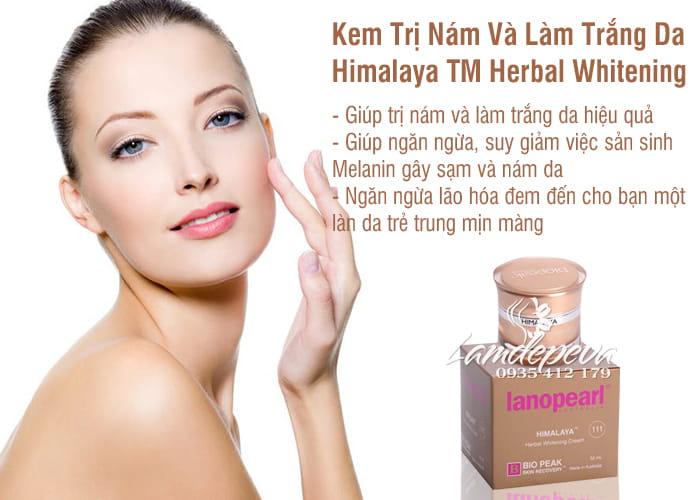 Kem Trị Nám Da, Làm Trắng Da Himalaya TM Herbal Whitening 50ml-Úc 45