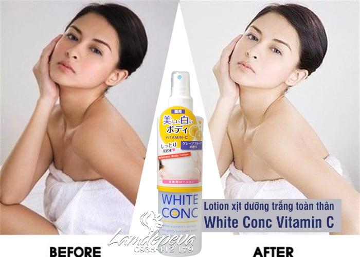 Lotion xịt dưỡng trắng toàn thân White Conc Vitamin C 245ml 7