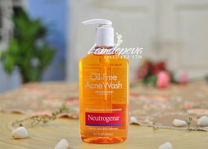 Sữa rửa mặt Neutrogena Oil-Free Acne Wash 269ml 4
