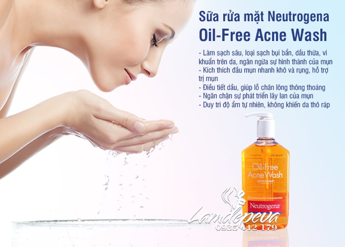Sữa rửa mặt Neutrogena Oil-Free Acne Wash 269ml 2