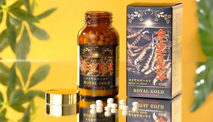 Viên uống dông trùng hạ thảo tohchukasou royal gold cao cấp nhật bản
