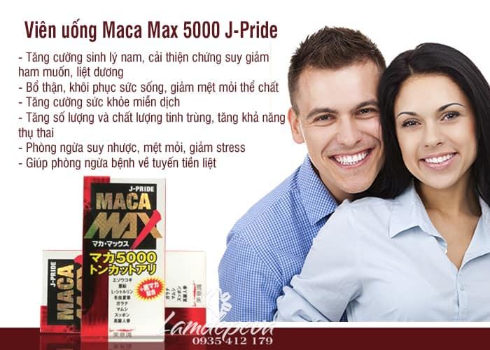 Viên uống Maca Max 5000 J-Pride 84 viên chính hãng Nhật Bản 2