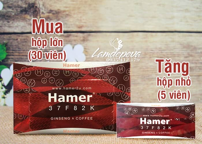 Kẹo sâm Hamer Ginseng & Coffee Malaysia mẫu mới 1