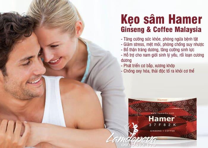 Kẹo sâm Hamer Ginseng & Coffee Malaysia mẫu mới 2