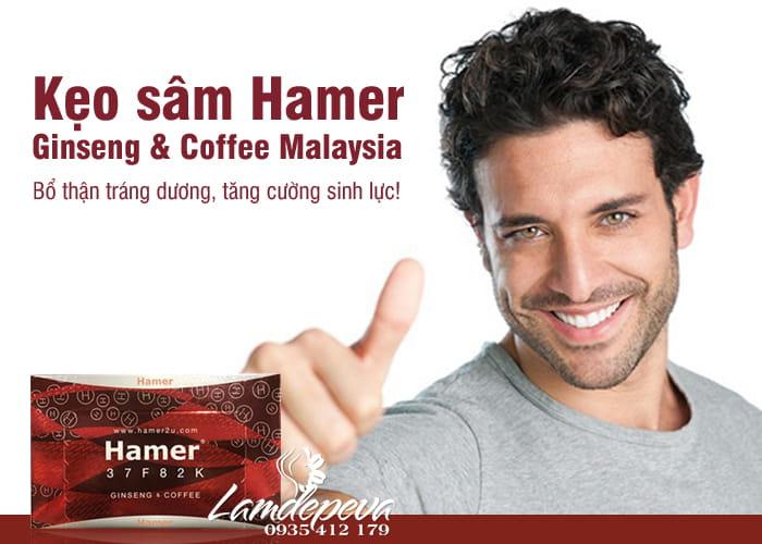 Kẹo sâm Hamer Ginseng & Coffee Malaysia mẫu mới 7