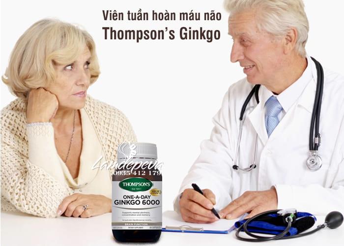 Viên bổ não, tuần hoàn máu não Thompson's Ginkgo 6000mg  1