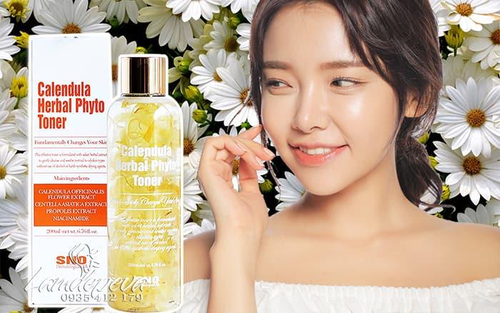 Nước hoa cúc SNO Calendula Herbal Phyto Toner 200ml Hàn Quốc2