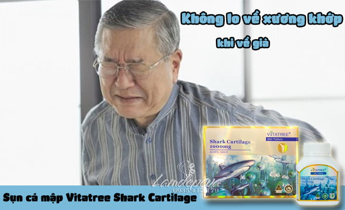 Sụn cá mập Vitatree Shark Cartilage 1000mg hộp 200 viên4