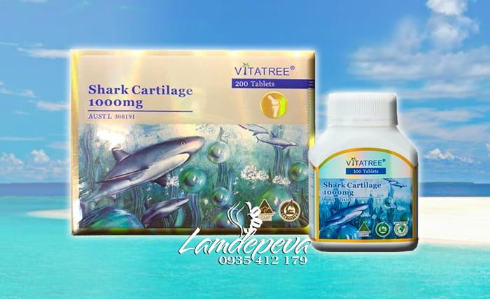 Sụn cá mập Vitatree Shark Cartilage 1000mg hộp 200 viên