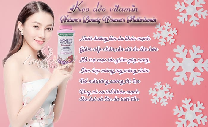 kẹo dẻo Nature's Bounty Women's Multivitamin Gummies1