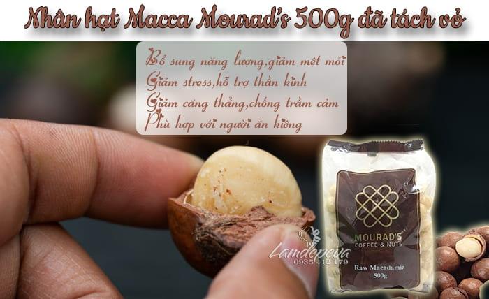 Nhân hạt Macca Mourad's 500g đã tách vỏ, xách tay Úc1