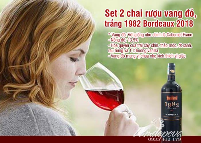 Set 2 chai rượu vang Pháp 1982 UG Bordeaux 2018 5