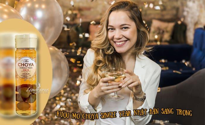 Rượu mơ Choya Single Year 650ml Nhật Bản - Sang trọng, ý nghĩa làm quà tặng