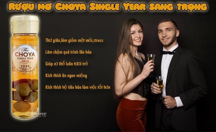 Rượu mơ Choya Single Year 650ml Nhật Bản - Sang trọng, ý nghĩa làm quà tặng1