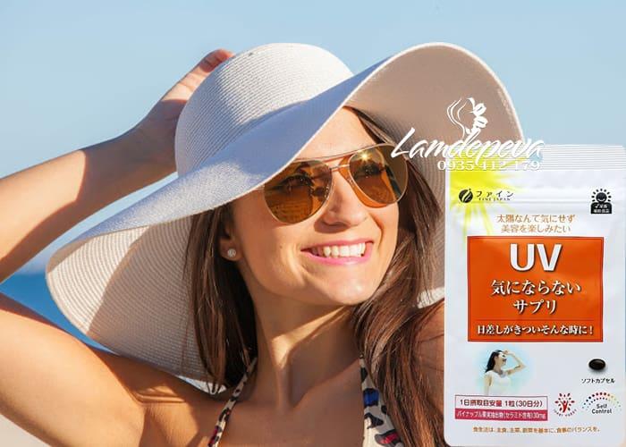 Viên uống chống nắng UV Fine Japan gói 30 viên của Nhật Bản  2