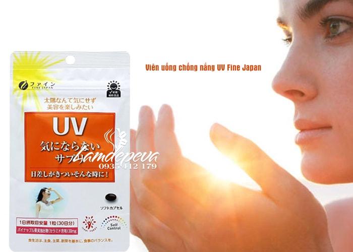 Viên uống chống nắng UV Fine Japan gói 30 viên của Nhật Bản  3