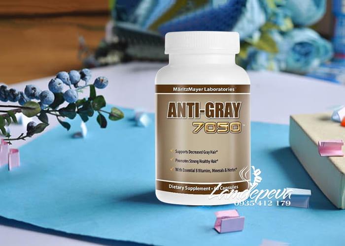 Viên uống trị tóc bạc sớm Anti-Gray 7050 hộp 60 viên của Mỹ
