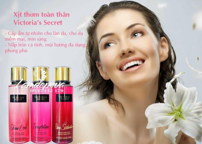 Xịt thơm toàn thân Victoria's Secret 250ml của Mỹ 3