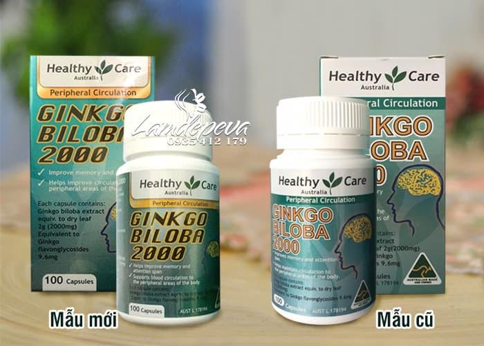 Viên uống bổ não Ginkgo Biloba Healthy Care 2000mg của Úc 1