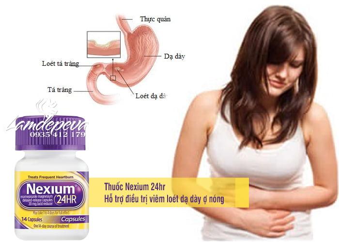 Thuốc hỗ trợ điều trị viêm loét dạ dày ợ nóng Nexium 24hr 1