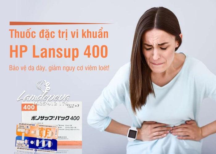 Thuốc đặc trị vi khuẩn HP Lansup 400 hỗ trợ dạ dày 7