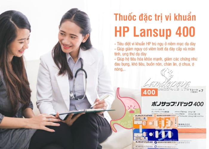 Thuốc đặc trị vi khuẩn HP Lansup 400 hỗ trợ dạ dày 2