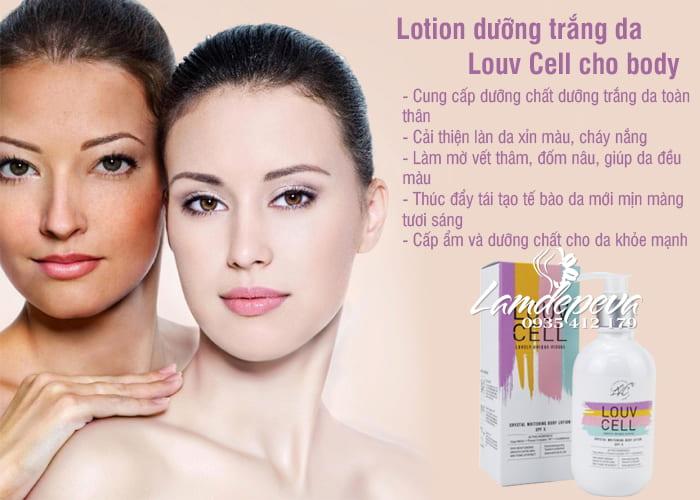 Lotion dưỡng trắng da Louv Cell cho body của Hàn Quốc, giá tốt 34