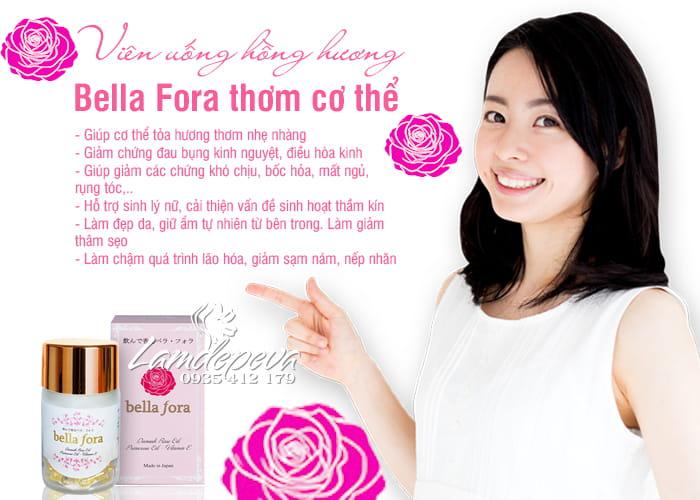 Công dụng của viên uống tinh chất hoa hồng Bella Fora Nhật Bản:2