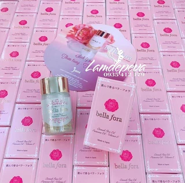 Viên uống tinh chất hoa hồng Bella Fora Nhật Bản 35 viên1