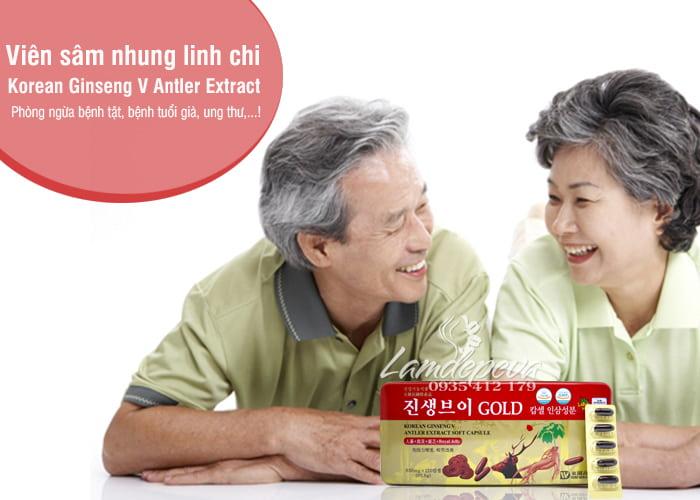 Viên sâm nhung linh chi Korean Ginseng V Antler Extract 60 2