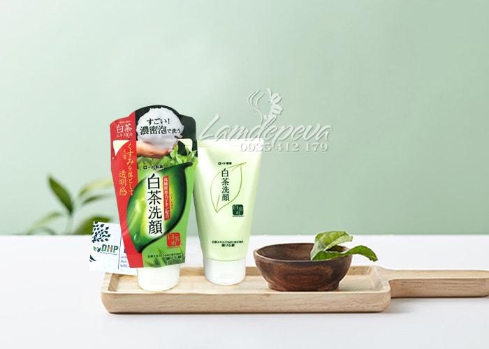 Sữa rửa mặt trà xanh Rohto Shirochasou 120g Nhật Bản 7