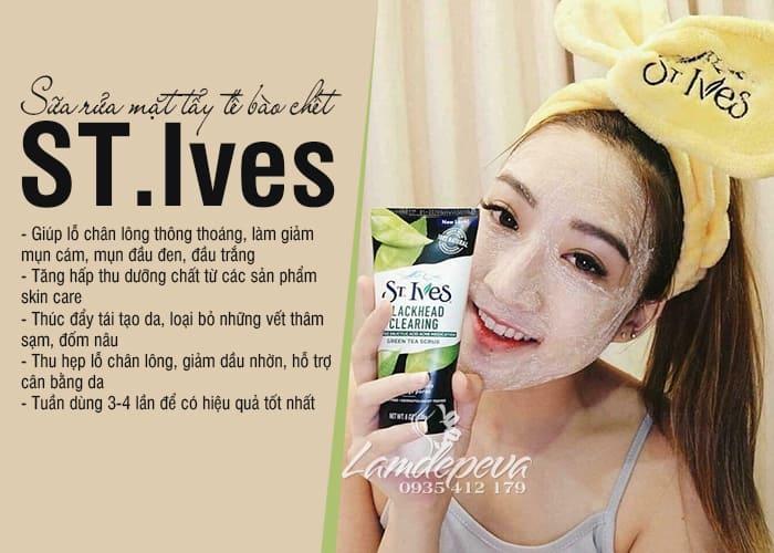 Sữa rửa mặt tẩy tế bào chết ST.Ives 150ml của Mỹ 9