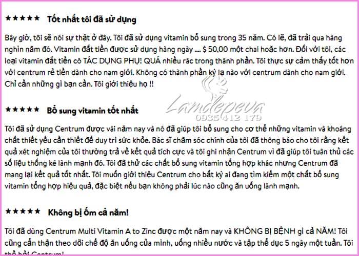 Vitamin tổng hợp cho nam Centrum Men 200 viên (dưới 50 tuổi) 7