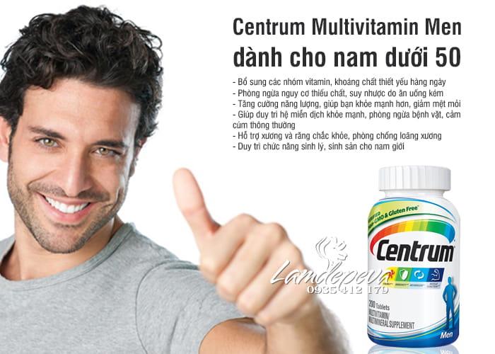 Vitamin tổng hợp cho nam Centrum Men 200 viên (dưới 50 tuổi) 5