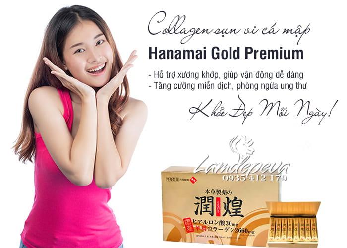 Collagen sụn vi cá mập Hanamai Gold Premium 60 gói Nhật Bản 3