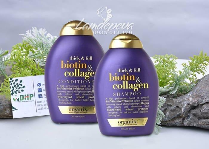 Bộ dầu gội và dầu xả Thick and Full Biotin Collagen Organix 385ml 9